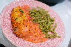 Kyckling i tomat och ricottasås