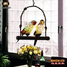 Image result for makenier vintage tiffany style stained glass 5 light parrot tree branch