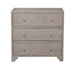 House of Hampton Candice Nail Head 3 Drawers Accent Chest Warm Gray Paint, Warm Grey, Black Furniture, Shabby Chic Furniture, Chest Furniture, Coastal Furniture, Accent Chest, Sofa End Tables, Brushed Nickel