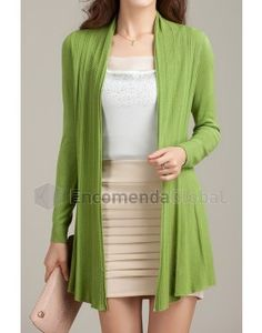 Cardigan feminino color longo