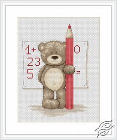 Teddy Bruno - Cross Stitch Kits by Luca-S - B1017