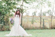 Lexington wedding photographers, KM Russell Photography (www.kmrussellphotography.com).  Boho bride, flower crown, floral crown, boho bouquet, succulents, Kentucky wedding, outdoor wedding
