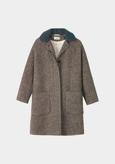 Dauphine Coat by Toast, tweed and green collar #minimalist #fashion #style