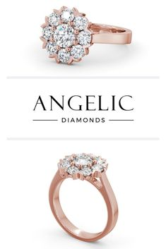 Looking for a non traditional engagement ring you'll be proud to show off? Tap this pin to take a closer look at this diamond engagement ring and discover a world of even more beautiful rose gold engagement rings you'll love! Rose Gold Jewelry, Diamond Jewelry, Gold Jewellery, Bridal Jewelry, Wholesale Engagement Rings, Long Pearl Necklaces, Gold Necklace, Traditional Engagement Rings, Diamond Cluster Ring
