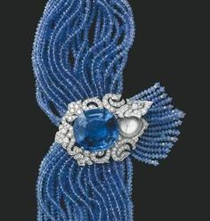 Cartier jewelry watches, 18K gold with diamonds and sapphires
