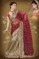 Kashmiri embroidered sarees – Embroidery is woven with refinement