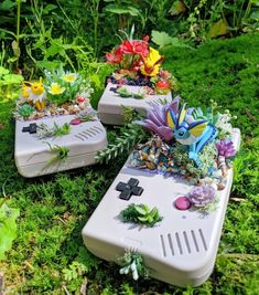 Pokemon Gameboy Succulent Planters Winnie Sumida on Etsy See our or tags Nerd Crafts, Fun Crafts, Diy And Crafts, Pokemon Memes, Pokemon Cards, Pokemon Terrarium, Cool New Gadgets, Anime Crafts, Cartoon Girl Drawing