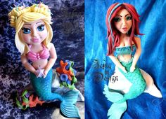 Mermaid icing Figurine for cakes