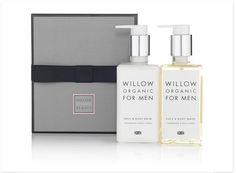 Willow Organic Beauty - Men's Essential Skincare Kit Organic Beauty, Organic Skin Care, Its A Mans World, Mens Essentials, Natural Cosmetics, Craft Items, Male Beauty, Body Wash, Face And Body