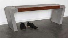 Sitzbank Beton/Holz
