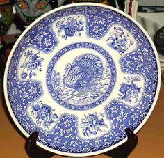 Spode Plate Blue Festival Turkey Toile Dinner Accent Porcelain Transferware New #Spode #Harvest #DinnerwareServingPieces