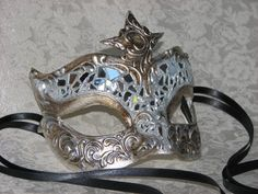 "Masquerade Mask Designs   Bling! Stucco Lady"" Mosaic Mirror Designer Masquerade Mask"