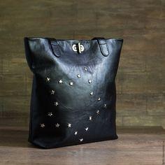 Купить Сумка кожаная - Флоренция - черный, сумка, женская сумка, оригинальная сумка, дизайнерская сумка