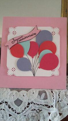 Carte d anniversaire avec perfo du catalogue   stampin up