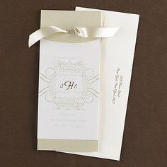 Tied Pocket wedding invitations Tied Pocket - Invitation    Item Number:FRN9783    $249.90 per 100