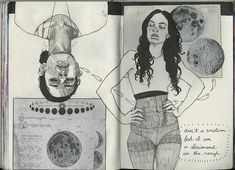 Art Journal 8 pages 142-144 | self portrait, my obsession wi… | Flickr