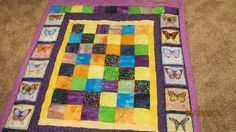 Scrappy Butterfly Quilt for a benefit auction....