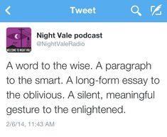 NightVale Tweets // One of my favorite so far <3