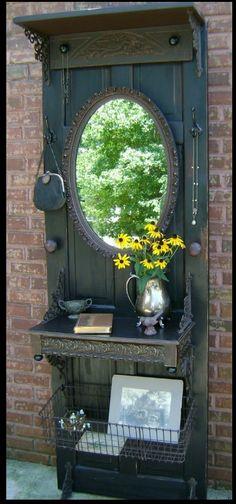 Beautiful old door catch all..