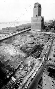 Begining World Trade Center construction. Credits New York Daily News. 2-28-68