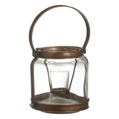 Look what I found at House of Fraser Copper Lantern, Votive Candle Holders, House Of Fraser, Lanterns, Candles, Tableware, Glass, Home Decor, Metal