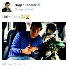 Halle-lujah Roger Federer