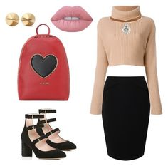 """Sin título #238"" by monivivi on Polyvore featuring moda, Jacques Vert, Valentino, Kate Spade, Miss Selfridge, Love Moschino, Lime Crime y Eddie Borgo"