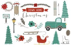 Down Home Christmas ~ Illustrations on Creative Market