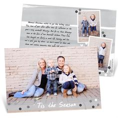 Silver Sequins Horizontal -- Christmas Cards