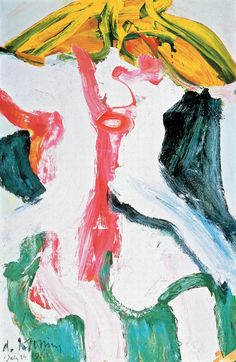 "Willem de Kooning: ""Woman with Yellow Hair"", 1968."