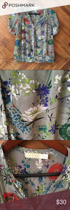 Urban Outfitters Pins&Needles Floral Print Blouse gorgeous feminine print, somewhat sheer, true to size Pins & Needles Tops Blouses