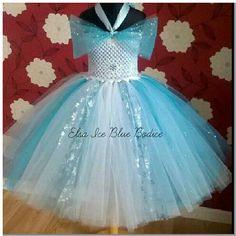a77896dbfb Elsa Frozen Party Tutu Dress 1-12 years Custom por MollieMoosTuTus Vestidos  De Ganchillo