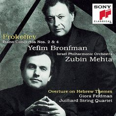Piano Concertos 2 & Overture on Hebrew Themes. Produced by Israel Philharmonic Orchestra, Zubin Mehta Yefim Bronfman. Date of Publication: Piano, Zubin Mehta, Sergei Prokofiev, B Flat Major, G Minor, Reading Themes, Classical Music, Sony Classical, String Quartet