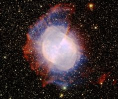 M27, also known as the 'Dumbbell Nebula', is a famous planetary nebula. The central portion of the nebula is quite bright, however it also has a faint outer halo that is clearly visible in this deep image.