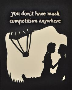 You Don't Have Much  Hunger Games Paper Cut by italsma on Etsy, $50.00