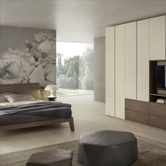 The world class quality of Pedini kitchens and modern cabinets comes to Miami, bringing contemporary kitchen designs, custom closets, and bathrooms Green Kitchen, Kitchen Colors, Bedroom Wall Units, European Kitchens, Contemporary Kitchen Design, Custom Closets, Modern Cabinets, Innovation Design