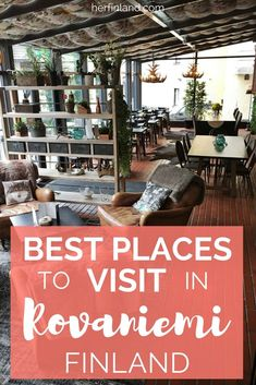 Are you traveling to Rovaniemi in Lapland? Here are the best places in town, according to a local! Finland Destinations, Amazing Destinations, Travel Destinations, Backpacking Europe, Europe Travel Tips, Travel Guide, Estonia Travel, Finland Travel, Lapland Finland