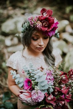 bold orchid flower crown