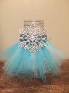 Frozen Inspired Mason Jar Mason Jar Tutu by CreativeHandsbyAli