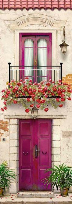 10 more pins for your paper – decoupage board - Art Painting The Doors, Windows And Doors, Plant Texture, Garden Architecture, Doorway, Entrance, Garden Design, Beautiful, Wallpaper