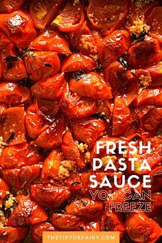 Fresh Tomato Spaghetti Sauce, Pasta Sauce With Fresh Tomatoes, Spaghetti Sauce Easy, Roasted Tomato Pasta, Easy Pasta Sauce, Easy Tomato Sauce, Pasta Sauce Recipes, Tomato Sauce Recipe, Fresh Pasta