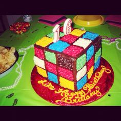 Rubics cube cake. Perfect for 80's party