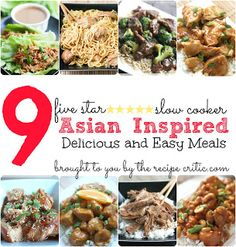 The Recipe Critic - Crockpot Asian-inspired meals