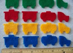 Felt Mini Train parts 15 inch  each set of by SunshineAnnieDieCuts, $4.50