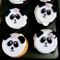 Panda cupcakes Panda Cupcakes, Baking, Desserts, Animals, Inspiration, Food, Tailgate Desserts, Biblical Inspiration, Deserts
