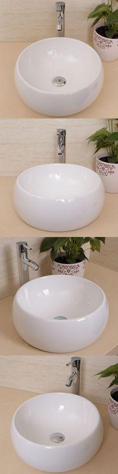 Sinks 71283 Fa Bathroom Round Glass Vessel Sink W Chrome Faucet Brilliant Sink Bowl Bathroom Decorating Inspiration