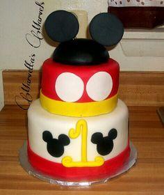 Mickey Mouse Cake!  #birthday #mickeymouse #childhood #disney #cake