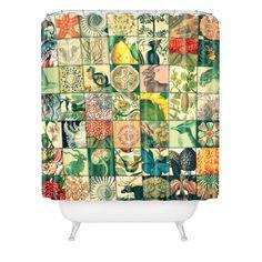 Belle13 Wonderful World Patchwork Shower Curtain | DENY Designs Home Accessories