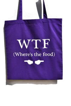 Tote Bag/Shopping Bag  WTF Where's the by KreativKreationz on Etsy