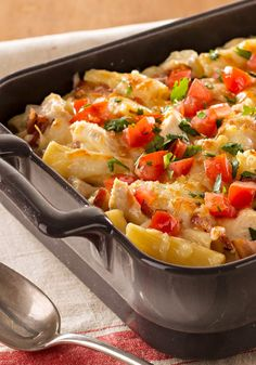 Monterey Chicken Pasta Bake – Cheesy with shredded Monterey Jack and hearty with chicken, bacon, and rigatoni, this family-pleasing pasta bake recipe is ready for the oven in just 20 minutes.